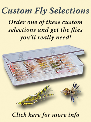 Permit fly selection at The Fly Shop