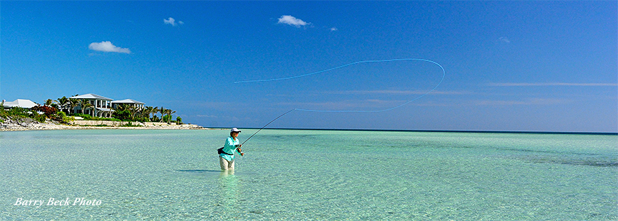 Casting at Deep Water Cay Club in the Bahamas