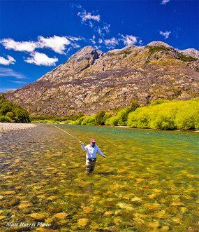 Wading at Patagonian Basecamp