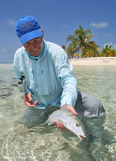 Mike Mercer with a Belize bonefish